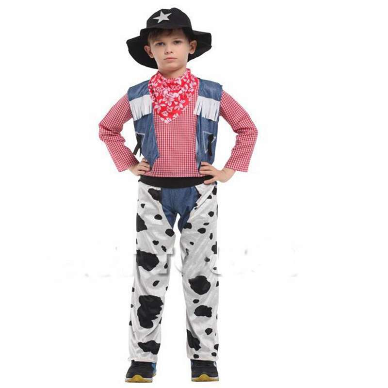 Halloween Costumes Boy Handsome Cowboy Sheriff Professional Cowboy Cosplay