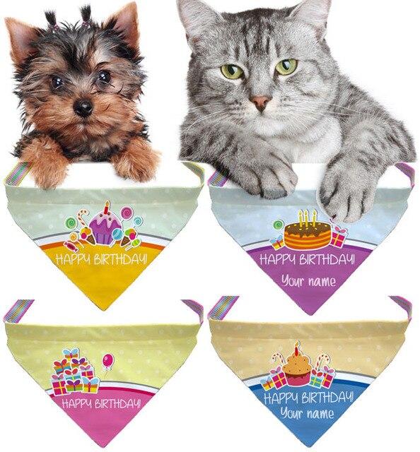 Slip On Bandane Collare Buon Compleanno Cane Gatto Accessori Per
