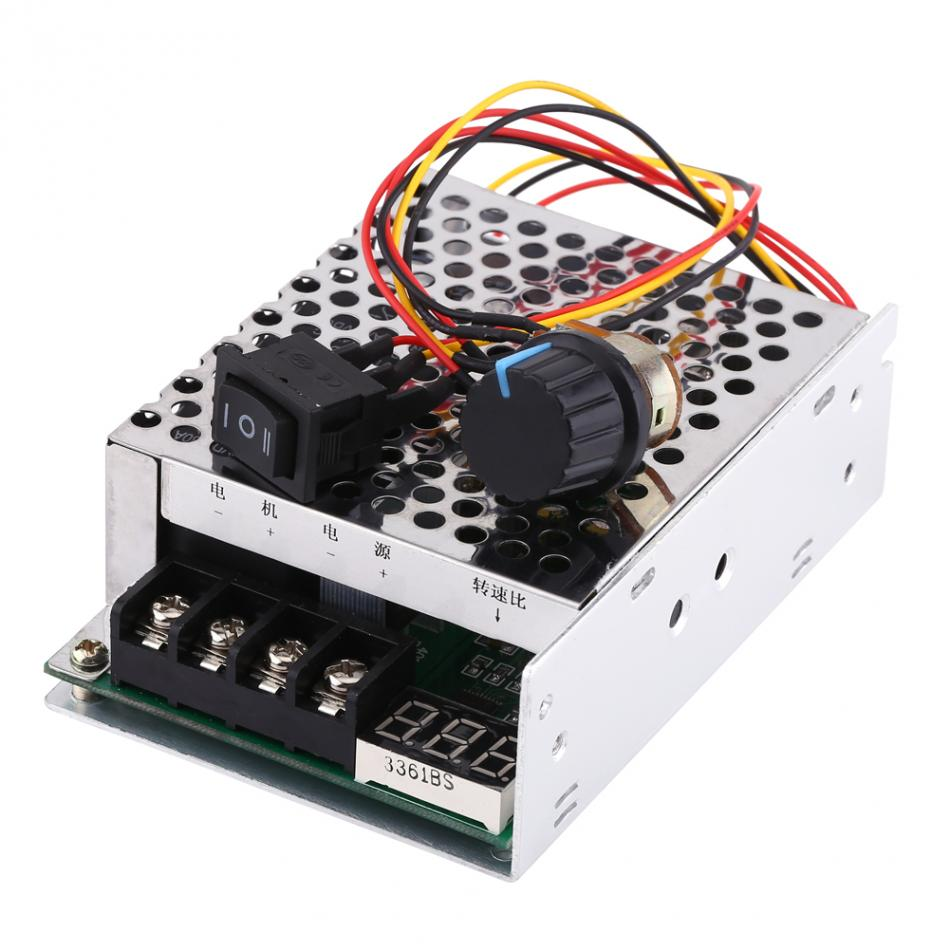 цена на 10V-55V pwm Controller Power 40A Digital Display DC Motor Speed Controller Governor Reversing Direction Switch