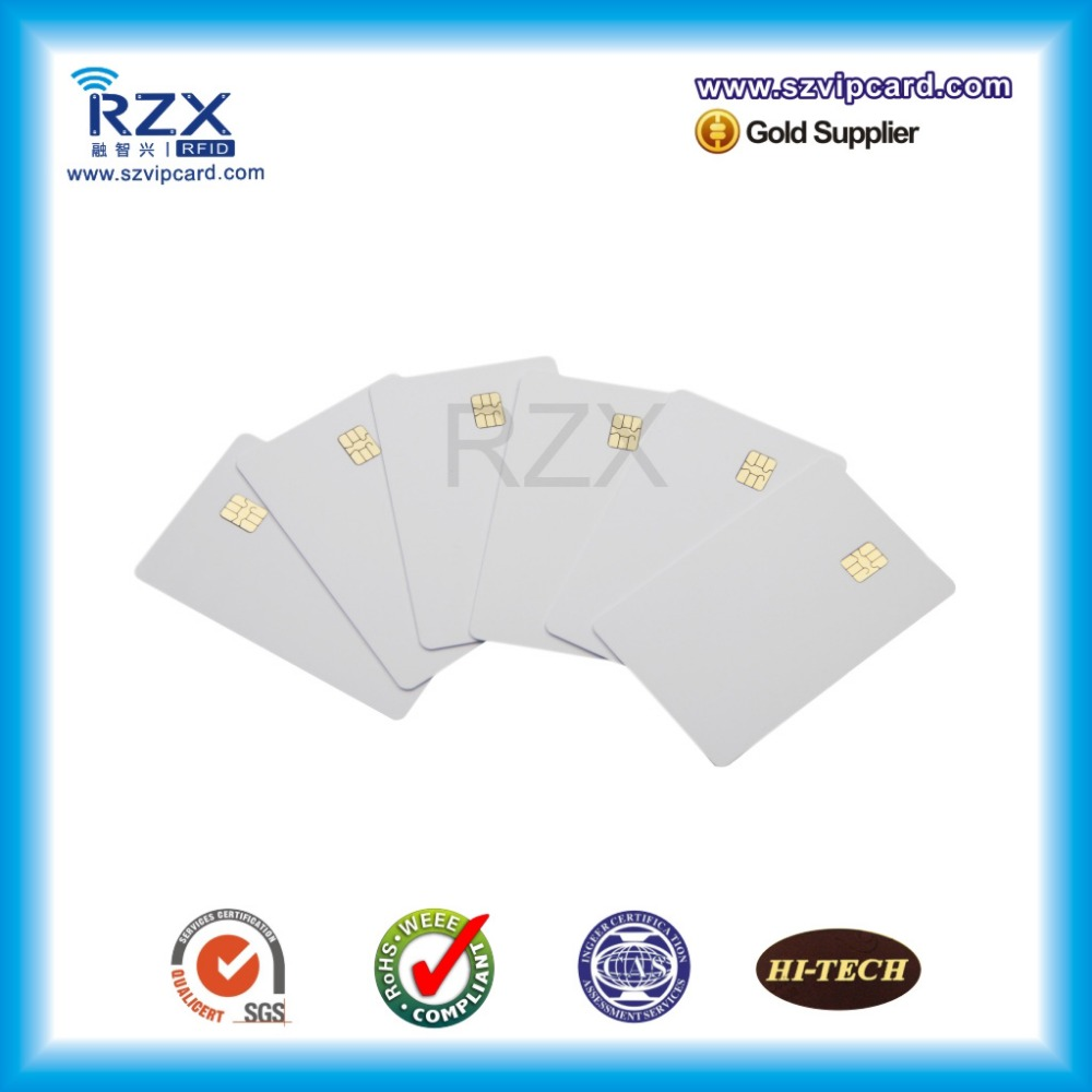 New arrival 200PCS pre printing plastic blank card with FM24C02 chip contact blank card