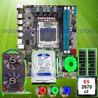 Good HUANAN ZHI X79 M ATX discount motherboard CPU Xeon E5 2670 C2 6 heatpipe cooler RAM 2*8G 1600 RECC 1TB SATA HDD GTX750Ti 2G