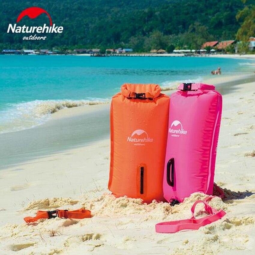 Naturehike Extérieure sports nautiques 28L trois-couche gonflable étanche sac de natation sac, dérive sac, avec ceinture