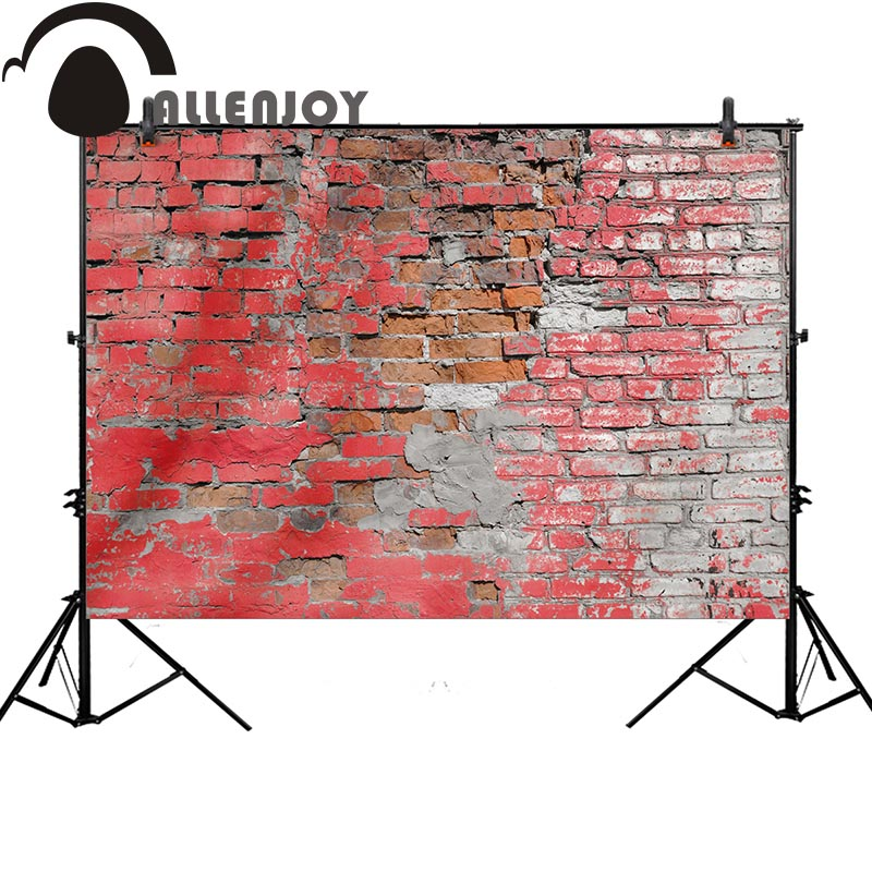 Allenjoy photography backdrop red painting brick wall vintage background photo prop photographic accessories photo studio shengyongbao 7x5ft vinyl custom photography backdrop prop white brick wall theme studio background nwz 02