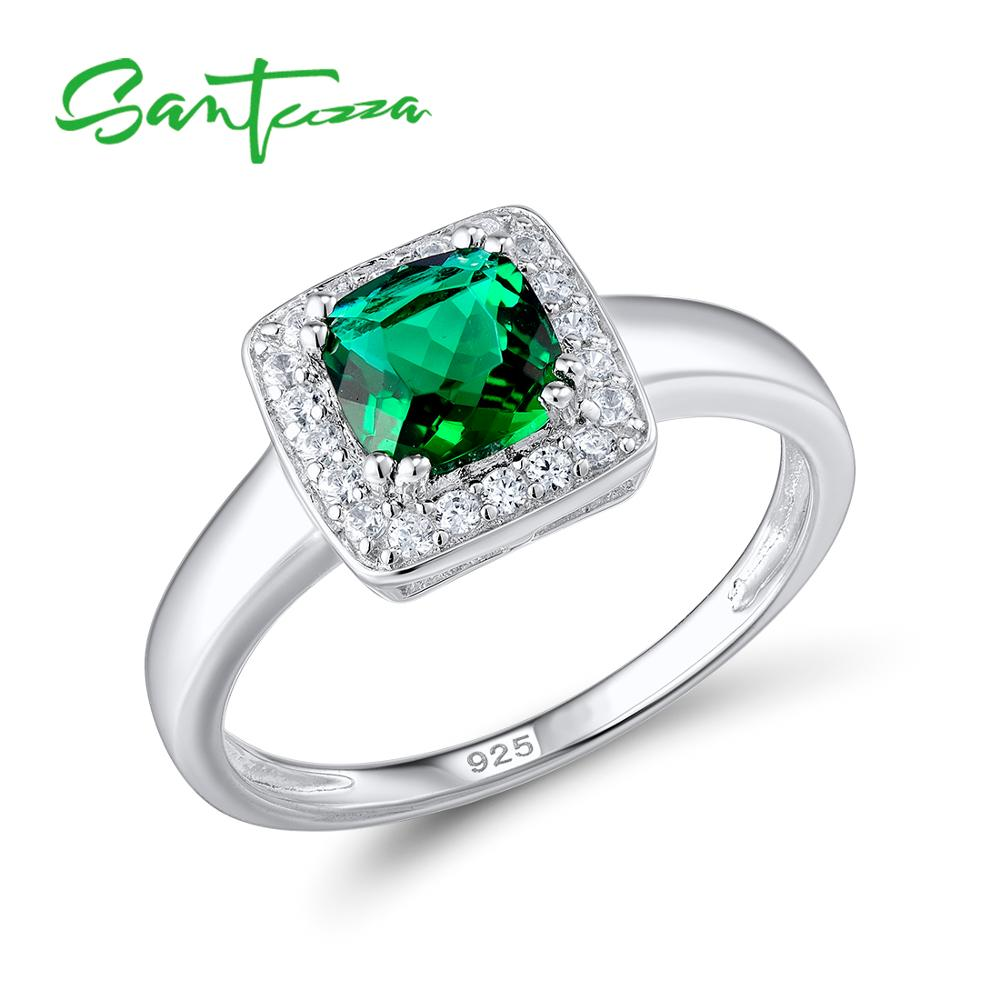 quick ring p rings green round simulated view sterling silver emerald stone