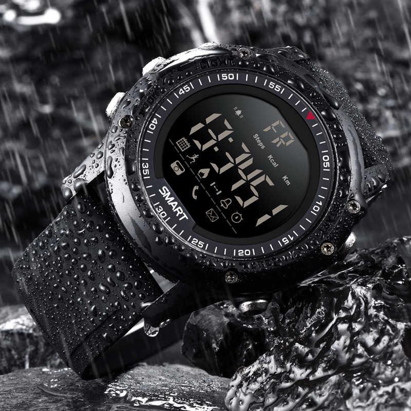 Ini 2019 Neue Herren Smart Sportuhr Bluetooth Schrittzähler IP68 Wasserdicht Elektronik Digital Smart Watch Relogios + Kotak