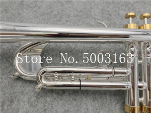 Image 3 - BULUKE High quality  Trumpet Original Silver plated GOLD KEY  Flat Bb Professional Trumpet bell Top musical instruments