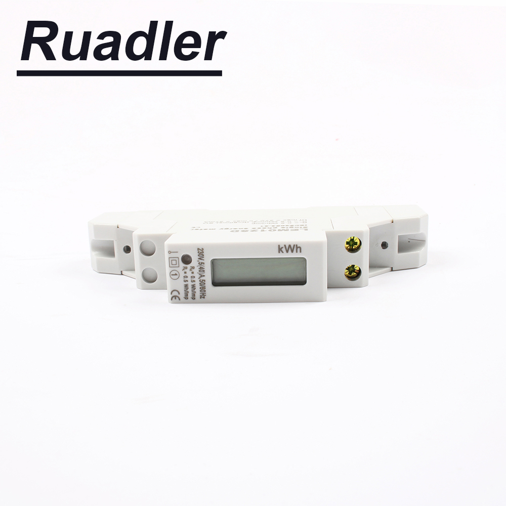 Din rail energy meter 5(40)A 50HZ 220V 230V Watt hour single phase KWH meter two wire Digital display 5A to 32A 10A 16A 25A 40A