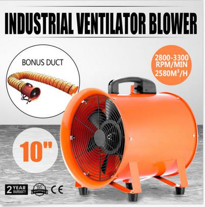 Utility Blower Fan 10 Inch Portable Ventilator High Velocity Utility Blower  Mighty Mini Low Noise With 5M Duct Hose  In Power Tool Accessories From  Tools On ...