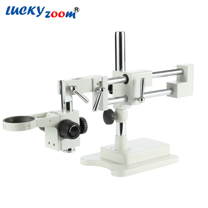 Lucky Zoom Brand Universal Double Arm Base for Stereo Zoom Microscope STL2+A1 Microscope Accessories Free Shipping  lucky zoom brand strong darticulating arm pillar clamp stand for stereo microscopes microscope accessories free shipping
