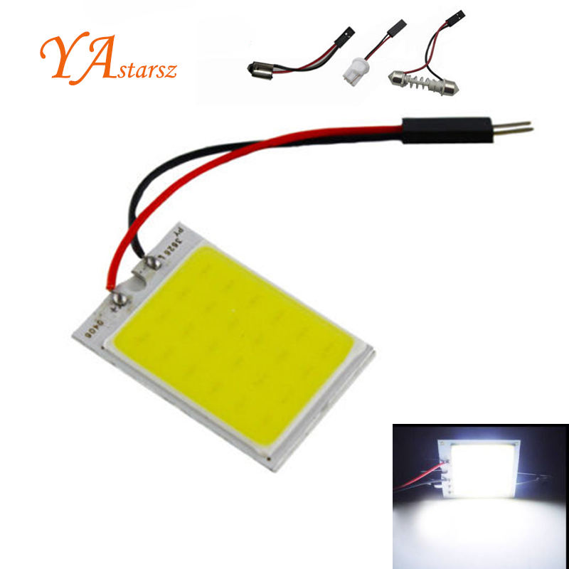 Car-styling 1pcs Xenon HID White 24 COB LED T10 Festoon Dome Map Light Bulb Car Interior Panel Lamp 12V 5500K -6000K Wholesale g4 4w 380lm 3000k ac 12v led cob car bulb cabinet dome light soft white