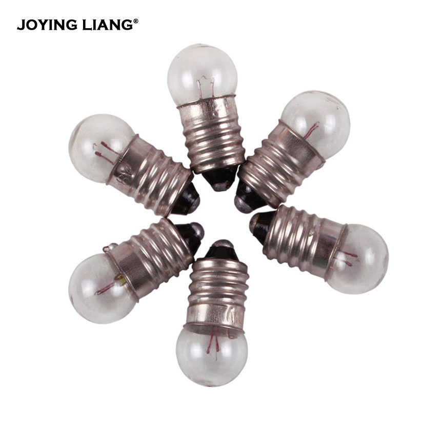 Student Electrical Experiment Lamp 5.2V 0.3A  6V 0.5A 6.2V Light Beads  For Old-fashioned Flashlight Bead Bulb 50pcs/lot