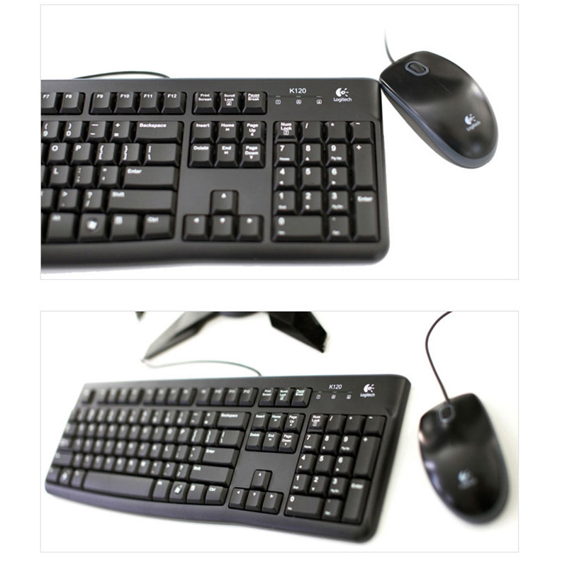 Wired Keyboard And Mouse Logitech : logitech mk120 wired keyboard mouse combo waterproof mute 1000dpi optical tracking keyboard and ~ Russianpoet.info Haus und Dekorationen