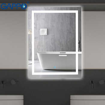 Gappo Bath Mirrors wall mounted Led Round cosmetic mirror square Led bathroom make up touch switch  mirror light adjustable - DISCOUNT ITEM  51% OFF All Category