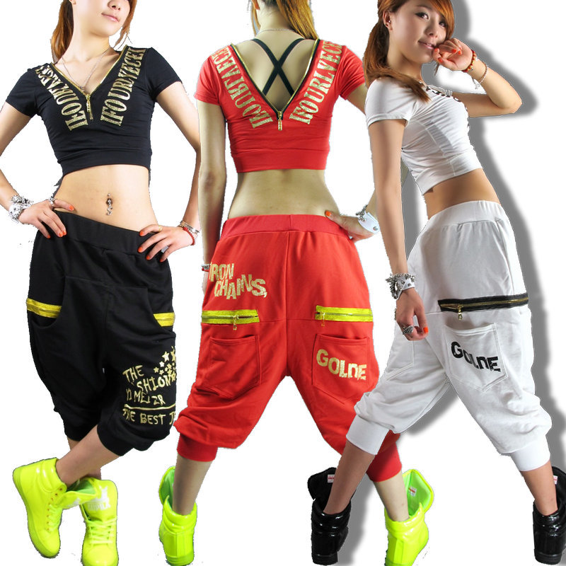 New fashion Women Hip hop pants dance wear sweatpants ds ...