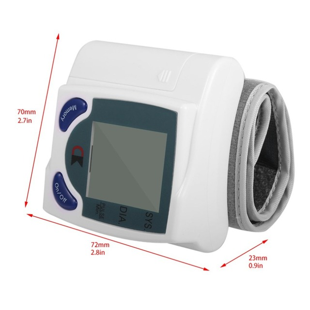 Automatic Digital Wrist Blood Pressure Monitor for Measuring Heart Beat And Pulse Rate DIA Tonometer Health Care