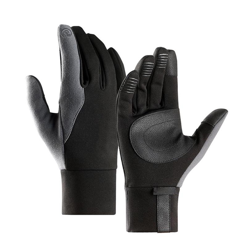Touch Screen Cycling Gloves Winter Thermal Windproof Warm Bike Gloves Full Finger Men Women Bicycle Gloves Black rockbros cycling gloves full finger touch screen men women winter warm mtb bike bicycle windproof gloves for smartphone phone