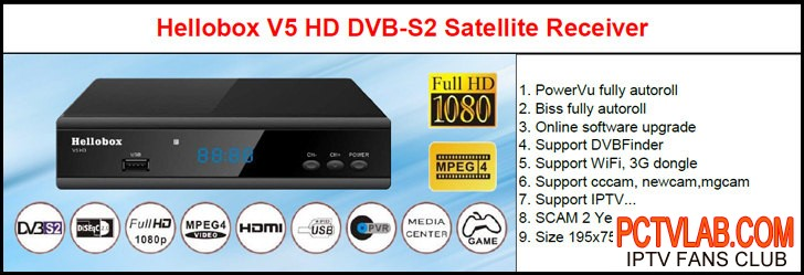 US $38 0 |hellobox V5 autoroll 78 5e thaicom biss channels-in Radio & TV  Broadcast Equipments from Consumer Electronics on AliExpress