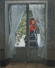 Custom Painting Monet The Red Kerchief Portrait Of Madame Monet For Home Painting Decor Canvas Oil Painting Art Reproduction little monet