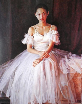 Hand Painted  Figure  Oil Painting  Modern Art   Living Room  Decoration Beautiful  Chinese Girl   Wall Pictures   No framed