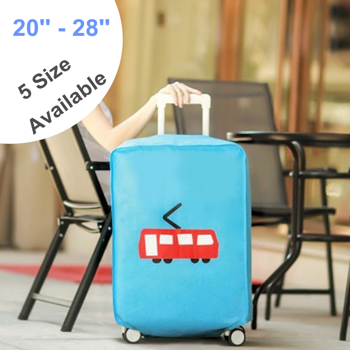 20-28'' Non-woven Dustproof Luggage Cover Elastic Luggage Covers Suitcase Trolley Case Cover Anti Dust Protector Letter Print