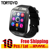 DHL 10pcs Lot Q18 NFC Bluetooth Smart Watch With Camera FM Facebook SMS MP3 Smartwatch Support