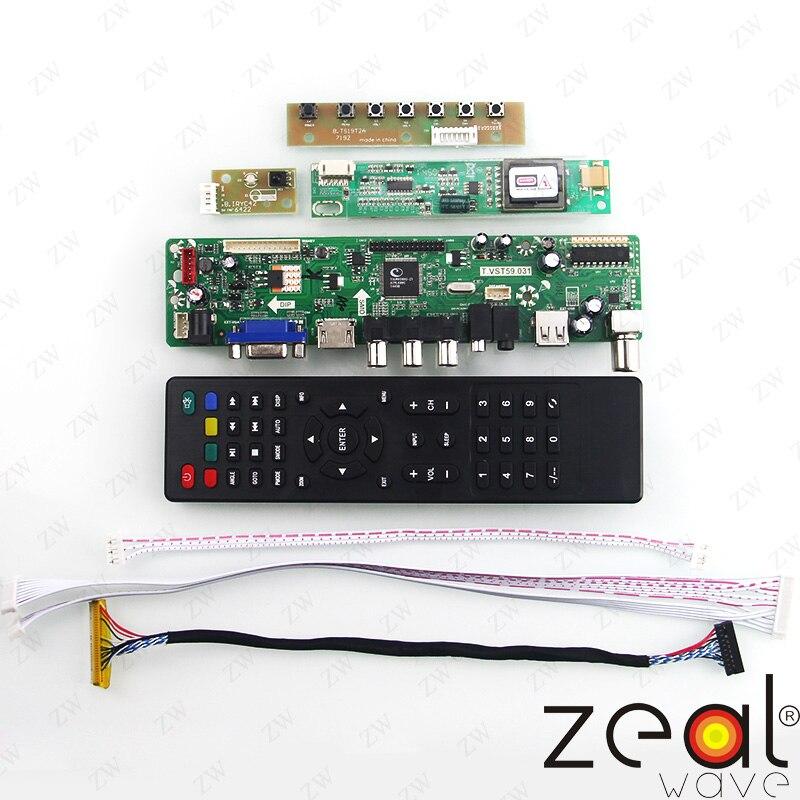 """Bilgisayar ve Ofis'ten Disket Sürücüler'de TV HDMI VGA USB CVBS RF LCD Denetleyici Kurulu Için 15.4 """"inç LTN154X1 ~ 9 1280*800"""