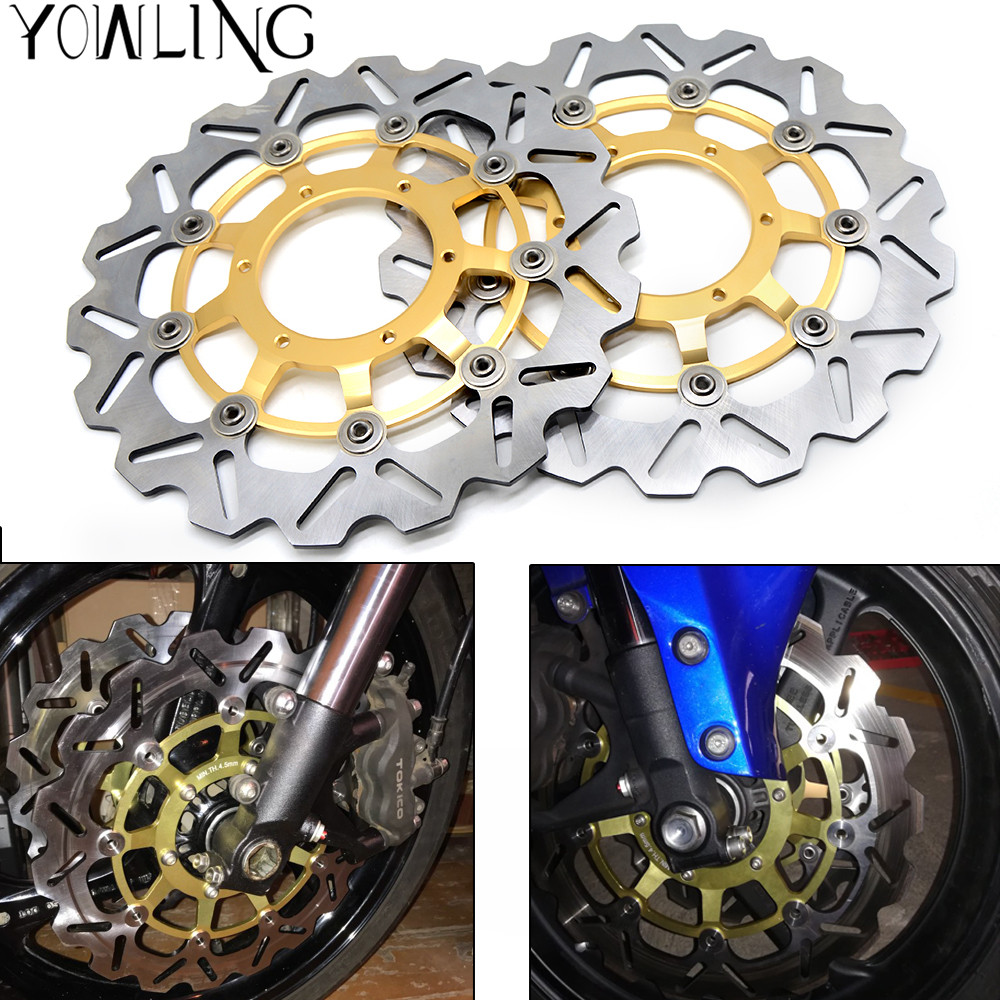 Motorcycle CNC Front Brake Disc Brake Rotors For Honda CBR1000RR CBR 1000 RR 2006 2007 2008 2009 2010 2011 2012 3 pair set brake pads for honda cbr1000 cbr600 cbr 600 1000 rr 2006 2007 2008 2009 2010 front rear