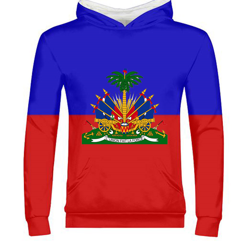 Earnest Haiti Male Custom Name Number Hti Zipper Sweatshirt Nation Flag Country Ht French Haitian Republic College Print Photo Clothes Warm And Windproof