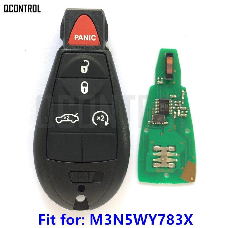 цена на QCONTROL Remote Smart Key for DODGE Car Vehicle Charger Challenger Durango Grand Caravan Journey Keyless IYZ-C01C M3N5WY783X
