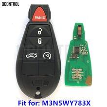 QCONTROL مفتاح ذكي عن بعد ل دودج سيارة شاحن سيارة تشالنجر دورانجو جراند قافلة رحلة بدون مفتاح IYZ-C01C M3N5WY783X
