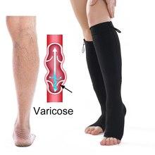 Компрессионные чулки, анти-варикозные носки, застежка-молния, пояс для ног, тонкая красота, Корректирующее белье для ног, сжигание жира, поддерживающие носки, предотвращающие варикозное расширение вен
