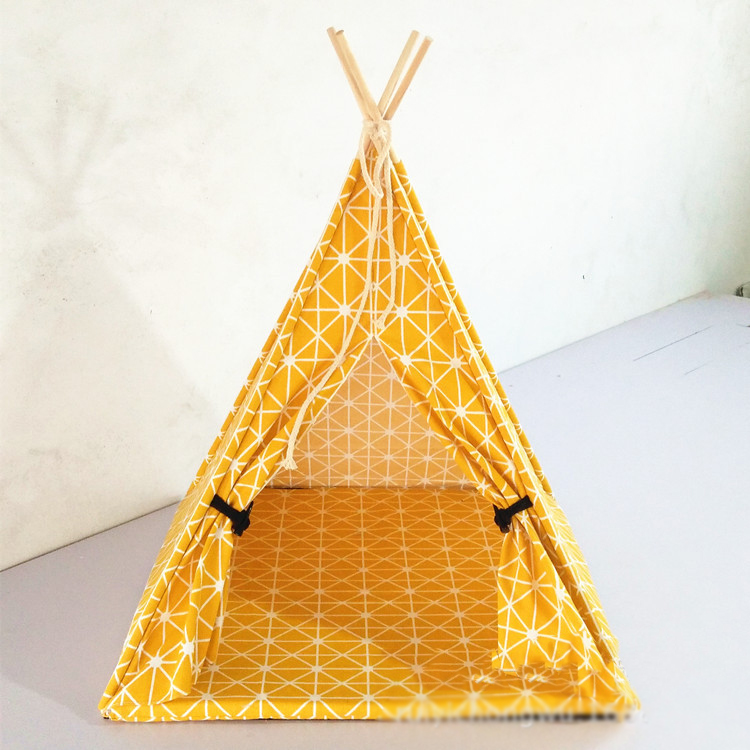 Pet tent pet Nest yurt pet items wooden doghouse dog beds for small dogs cage puppy cat tent ktiiten kennel pads little star