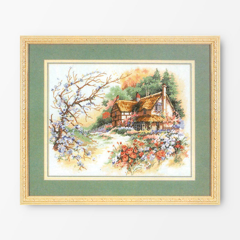 Fishxx chinese Cross Stitch kits diy C013 scenery country of rural patterns embroidery on needlework 100
