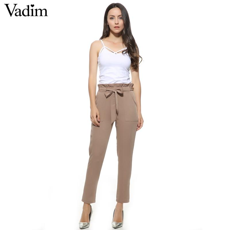 vadim women chiffon high waist harem pants casual trousers