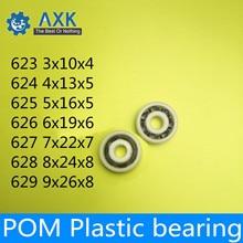 POM Bearing 623 624 625 626 627 628 629 ( 5 PCS ) Glass Balls Nylon Cage Plastic Ball Bearings free shipping 10pcs 626 pom plastic deep groove ball bearing 6x19x6mm with glass balls
