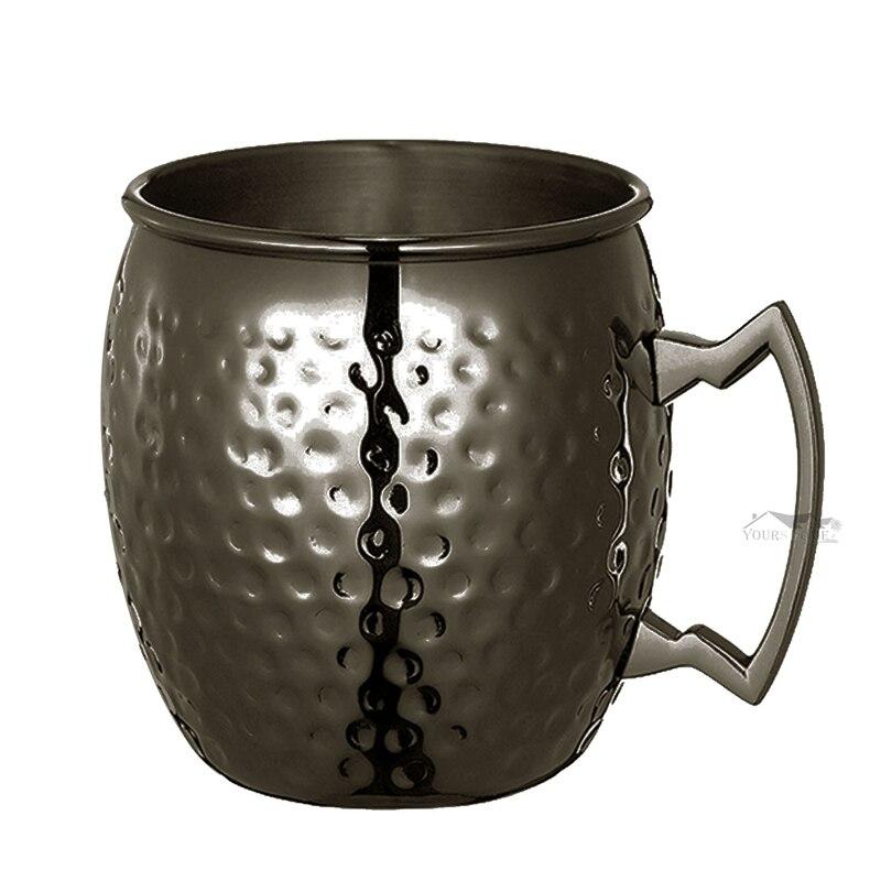 12 조각 모스크바 뮬 마시는 머그잔 유리 망치 gunmetal 블랙 바 머그잔 마시는 컵 모스크바 머그잔-에서머그잔부터 홈 & 가든 의  그룹 3