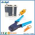 Rj11 RJ45 probador de Cable Coaxial y arrugador RJ 45 RJ 11 RJ 12 de juegos de herramientas