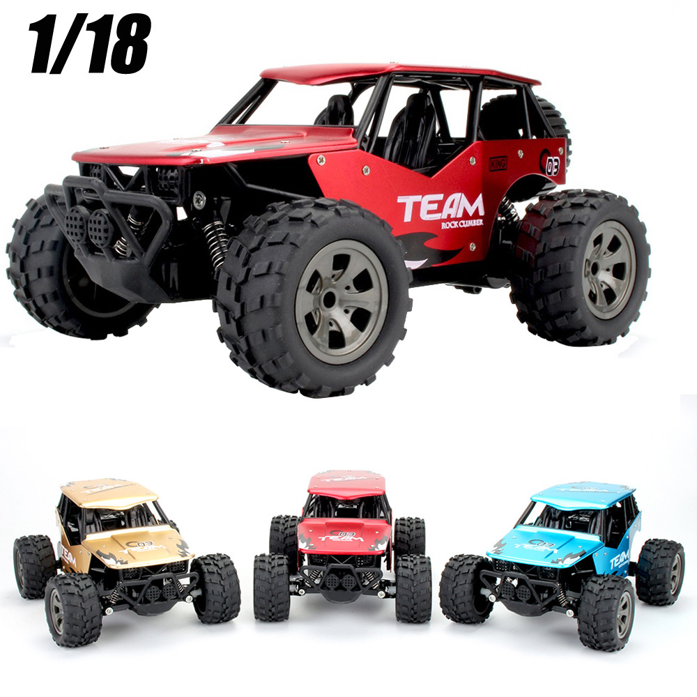 1:18 RC Car Radio Machine 2WD High Speed RC Racing Car Alloy CaseTruck Off-Road Buggy Remote Control Car Toys for Children