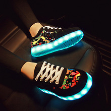 Usb Charging kid Shoes Glowing Sneakers do with Light up girls shoes infant tenis led luminous sneakers LED slippers