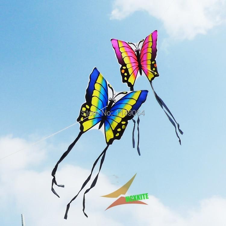 doprava zdarma vysoce kvalitní lober motýl kite 2pcs / lot s ruční linku hcxkites továrna easy contrl ripstop nylon ptáci orel