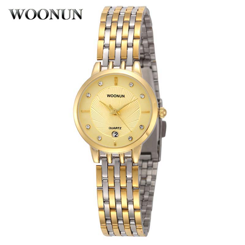 Top Quality Luxury Gold Ladys Wristwatch Woonun Brand Full Steel Quartz Women Watches Luxury Female Watches Hours Reloj MujerTop Quality Luxury Gold Ladys Wristwatch Woonun Brand Full Steel Quartz Women Watches Luxury Female Watches Hours Reloj Mujer
