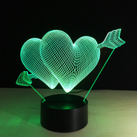 Litwod Z20 LED 3D Night Lights Cupid S Arrow Mode Creative Ambient Light Desk Lamp Home