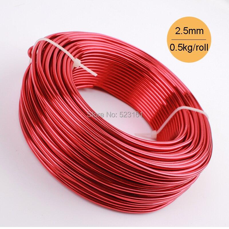 Wholesale 0.5kg Anodized Artistic Aluminum Craft Wire 2.5mm 10 Gauge ...