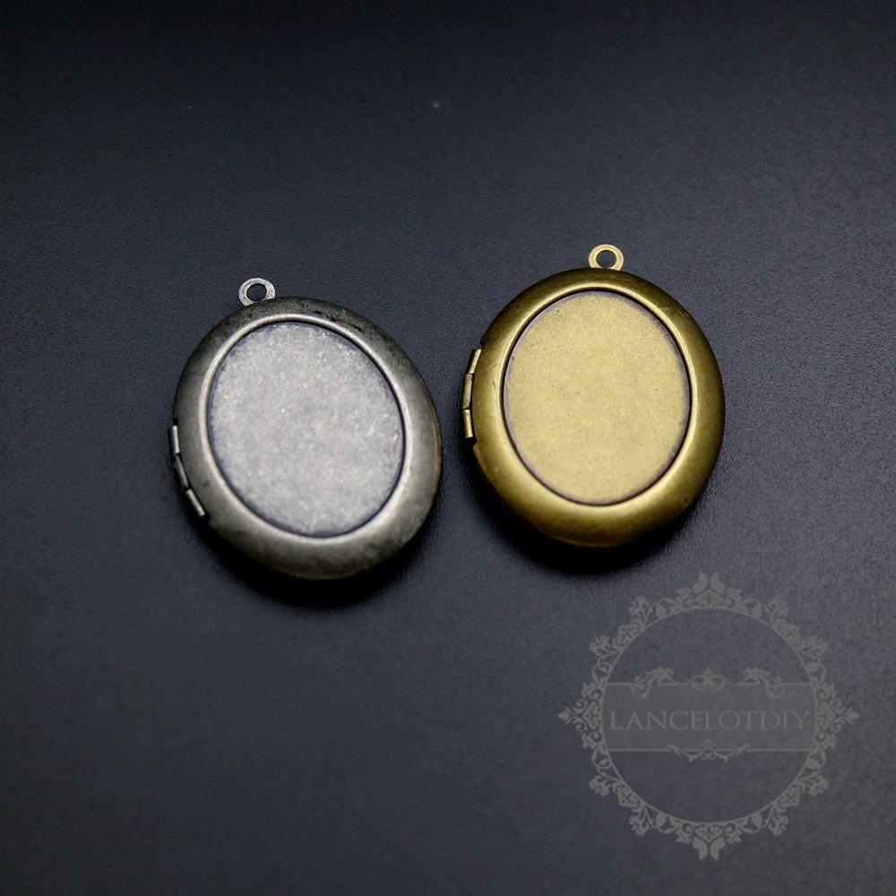 18x23mm einstellungsgröße vintage stil antike silber, bronze oval ...