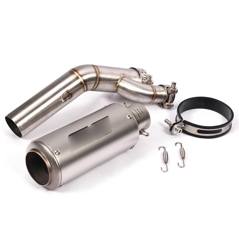 Pour BMW S1000RR 2017 2018 moto système d'échappement échappement silencieux connecter Section milieu lien Tube tuyau modifié S1000RR - 5