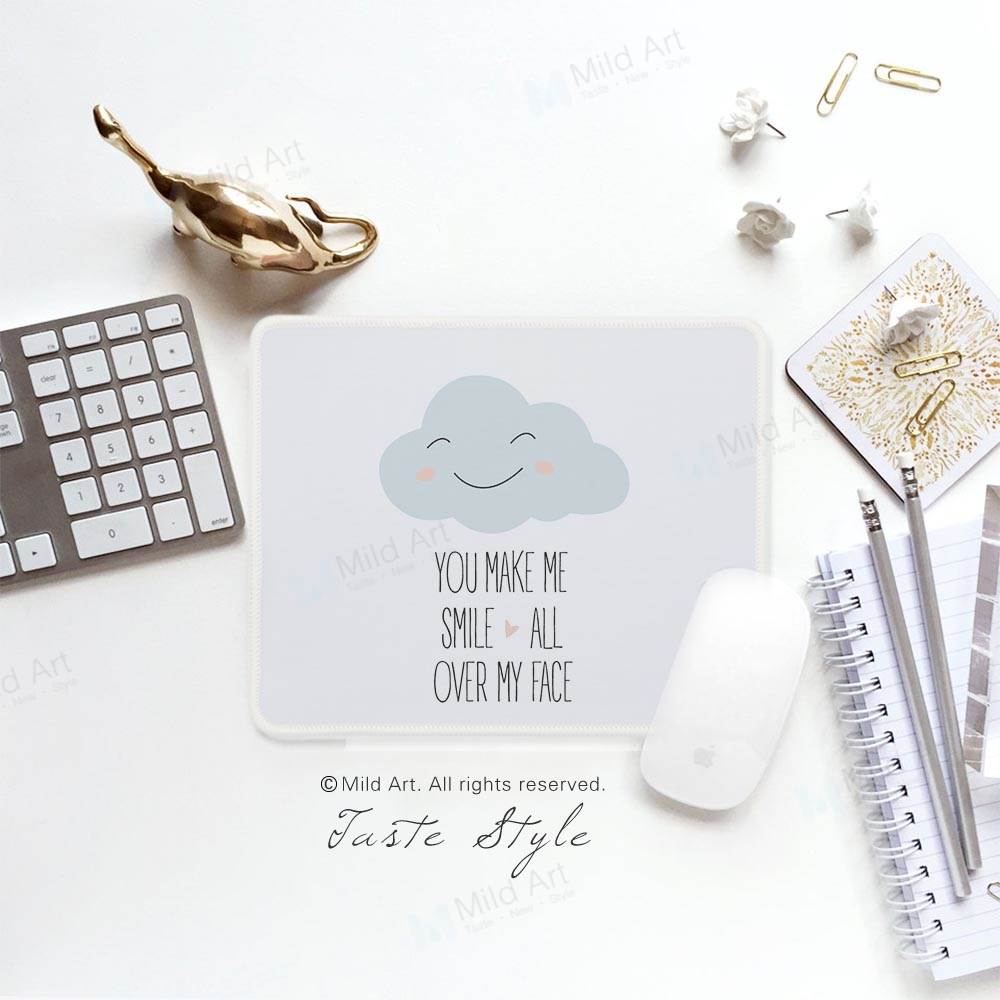 Hot Sale Nordic Style Kawaii Cute Cloud Smile Quotes Print Creative