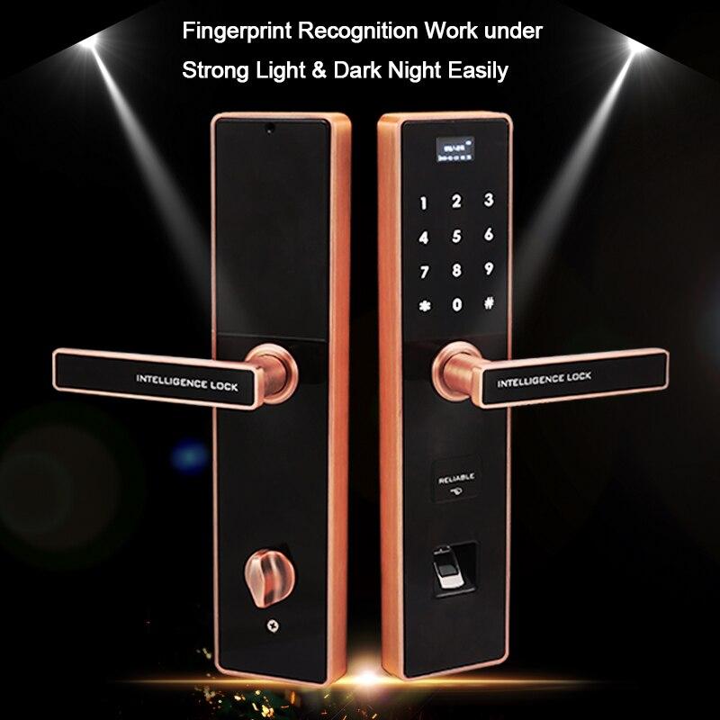 Eseye цифровой электронный замок дверь Интеллектуальный Smart Lock безопасной Смарт двери замок биометрический замок RFID разблокировать