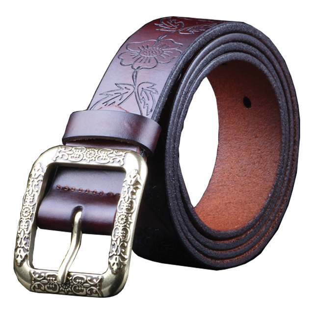Vintage Genuine Leather Belt With Second Layer Cow skin