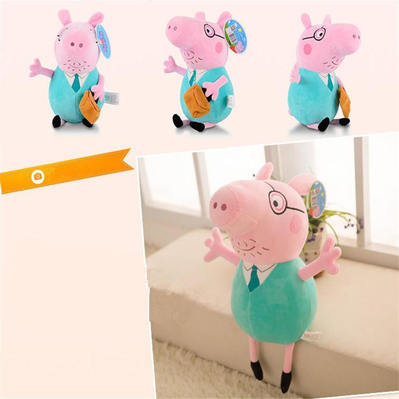 25 CM Anime Peppa Pig George Peppa Family Plush Toys Baby Pet Doll Soft Stuffed Toys Birthday Gifts For Children 5
