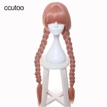 ccutoo 100cm Long Braid Synthetic Wig Hair Topspeed Magical Girl Raising Project Murota Tsubame Cosplay Wig Heat Resistance